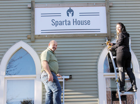 Sparta House new sign